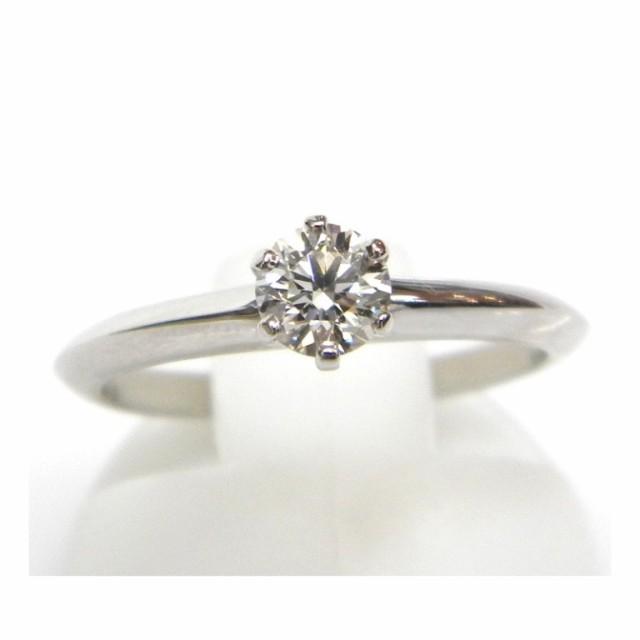 人気商品 ティファニー 指輪 ダイヤモンド立爪リング Pt850 0.32ct H-VVS2-EX #9【】(18179)(18179), キャンディコムウェア 64559e71