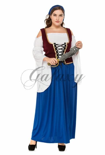 ハロウィン ビールガール 民族衣装 ディアンドル チロリアン ドイツ メイド 大きいサイズ コスプレ衣装 ps3346(ps3346)