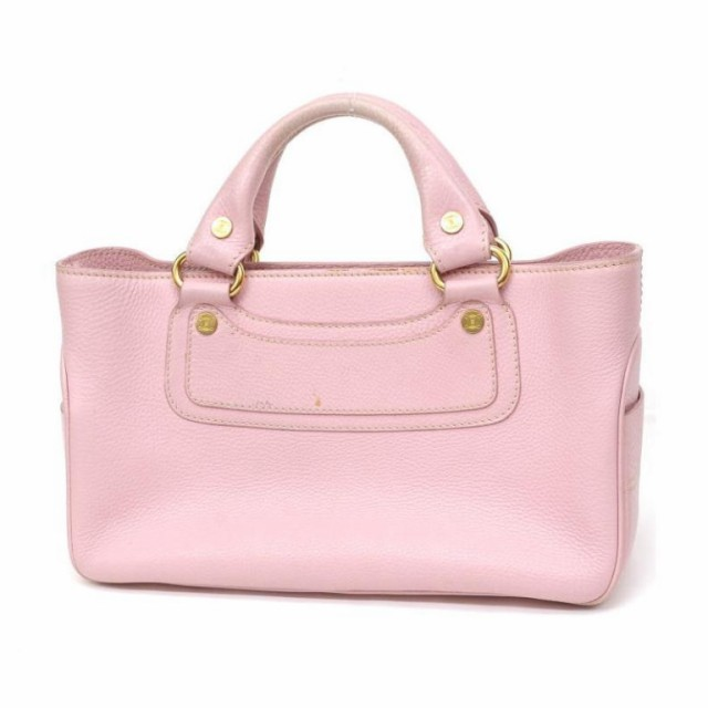 lower price with a5491 6e35e セリーヌ CELINE トートバッグ ブギーバッグ ピンク 革 【中古】(31509)|au Wowma!(ワウマ)