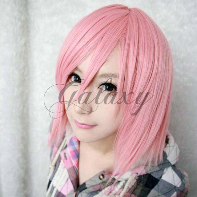 春野 サクラ モモ・ベリア・デビルーク ラム ピンク ショート コスプレウィッグ wig,013l|au Wowma!(ワウマ)