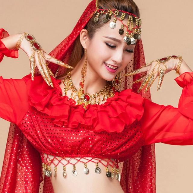 ベリーダンス インドダンス 千手観音指ブレスレット 腕アクセサリー 飾り物 小物 演出 イベント vfp