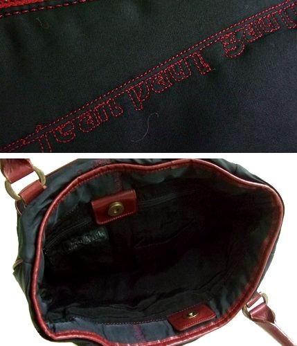 廃盤 Jean Paul GAULTIER ジャンポールゴルチエ フリルロゴ刺繍トートバッグ (ゴルチェ 鞄カバン) 048166