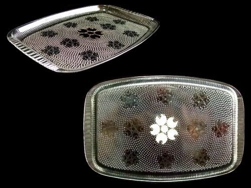 vintage EXPO'70 大阪万博 ミッドセンチュリー「桜」トレー (cherry tree tray, a shield in a mid century) ヴィンテージ 058702
