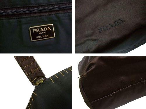 fe0d5d47f194 PRADA プラダ ITALY イタリア製 リバーシブル サテン×ナイロン トートバッグ (鞄カバン) 064702【