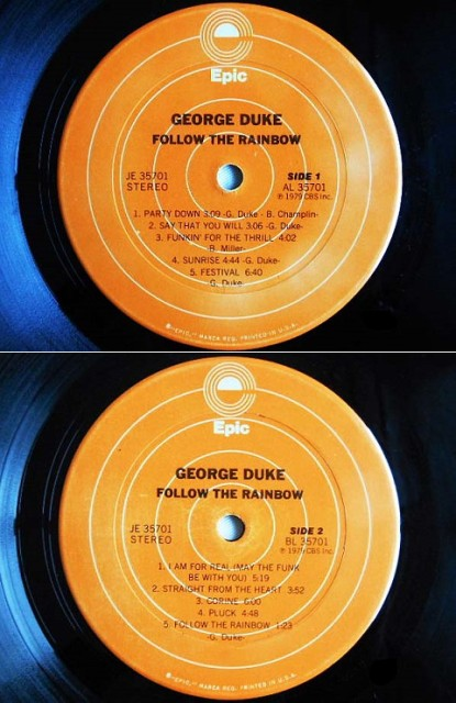 GEORGE DUKE FOLLOW THE RAINBOW (アナログ盤レコード SP LP)■