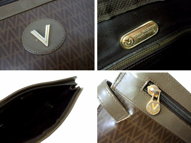 Vintage MARIO VALENTINO ヴィンテージ マリオバレンチノ イタリア製 モノグラムセカンドバッグ (ヴァレンチノ バレンティノ) 086812