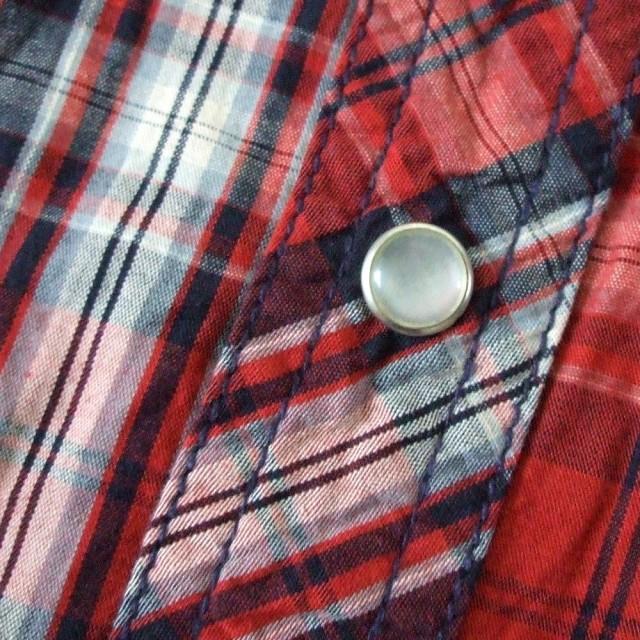 semanticdesign セマンティックデザイン タータンチェックウエスタンシャツ (赤 刺繍) 100597