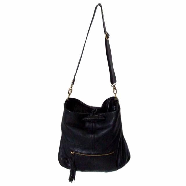 PAL パル レザーショルダーバッグ (黒 皮 鞄 ) 101573