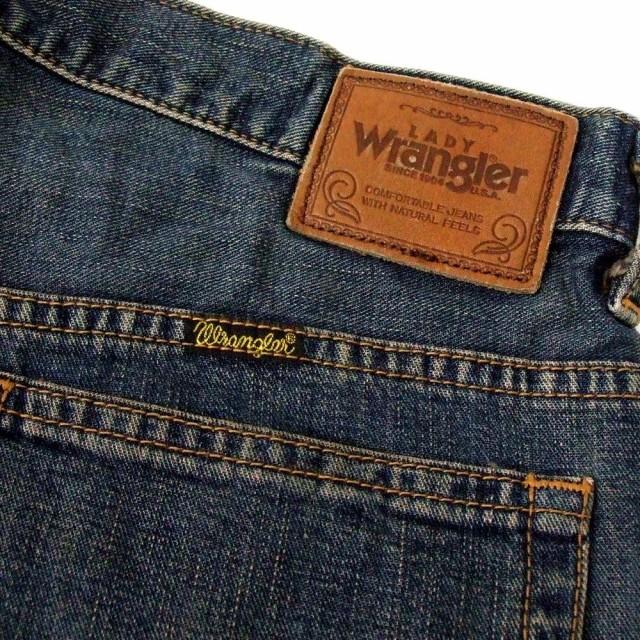美品 Wrangler ラングラー ヴィンテージ加工デニムパンツ (インディゴ 紺 ジーンズ) 103958