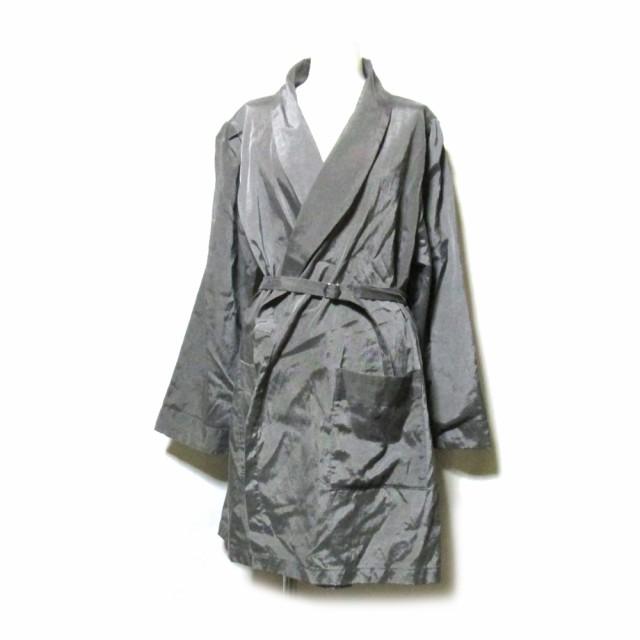 美品 KISHIDA MIKI. キシダミキ ショールカラーコート (グレー ジャケット) 112467