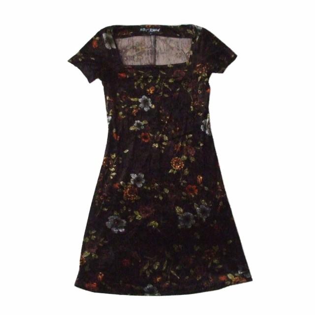 6538a6611e1ae Betsey Johnson ベッツィジョンソン フラワーパターンワンピース (黒 花柄 ドレス) 112859 中古