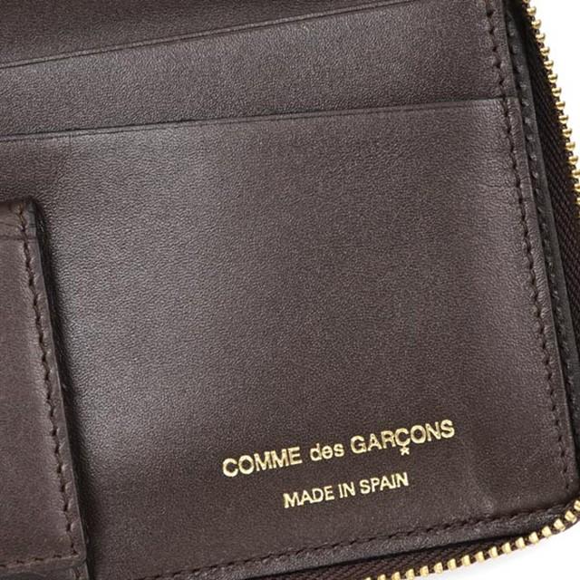 コムデギャルソン COMME des GARCONS 長財布 レディース 財布 メンズ ブラウン 茶 兼用 ラウンド 本皮 レザー ブランド 新作 新品 正規