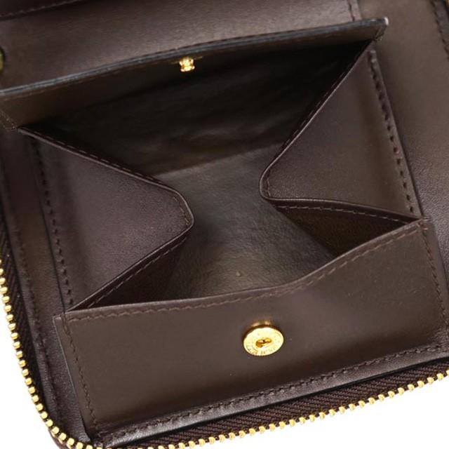コムデギャルソン COMME des GARCONS 二つ折り財布 ラウンド 財布 ブラウン レディース メンズ 茶 兼用 本皮 レザー ブランド 新作 新品
