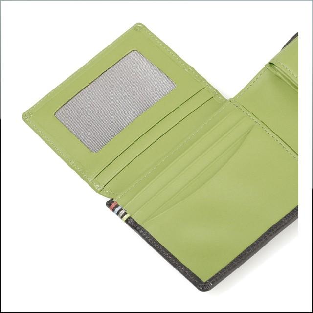 ポールスミス 財布 二つ折り財布 小銭入れ 人気 牛革 新作 ブランド メンズ PaulSmith ダークブラウン グリーン