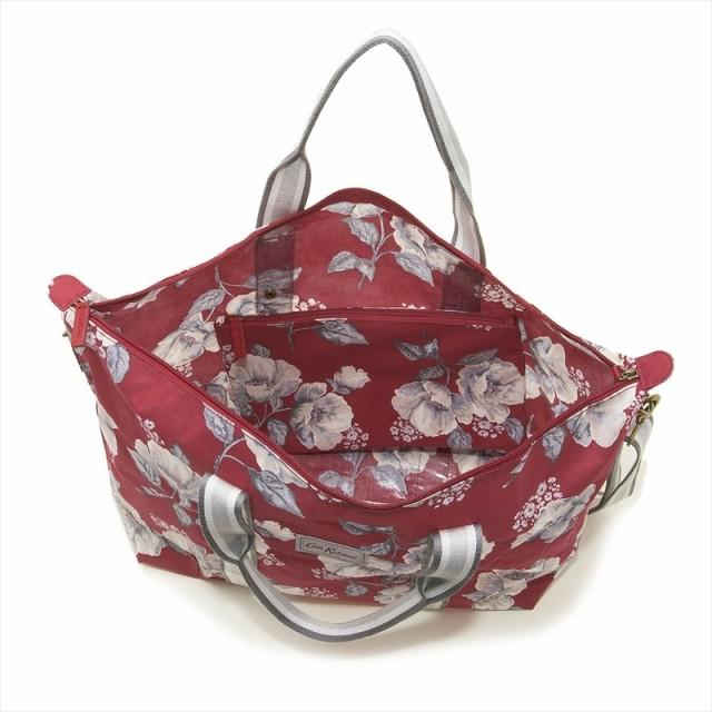 0ba3fde39296 キャスキッドソン Cath Kidston ショルダーバッグ トートバッグ 787253 Foldaway Overnight Bag Mid Wild  Poppies 花