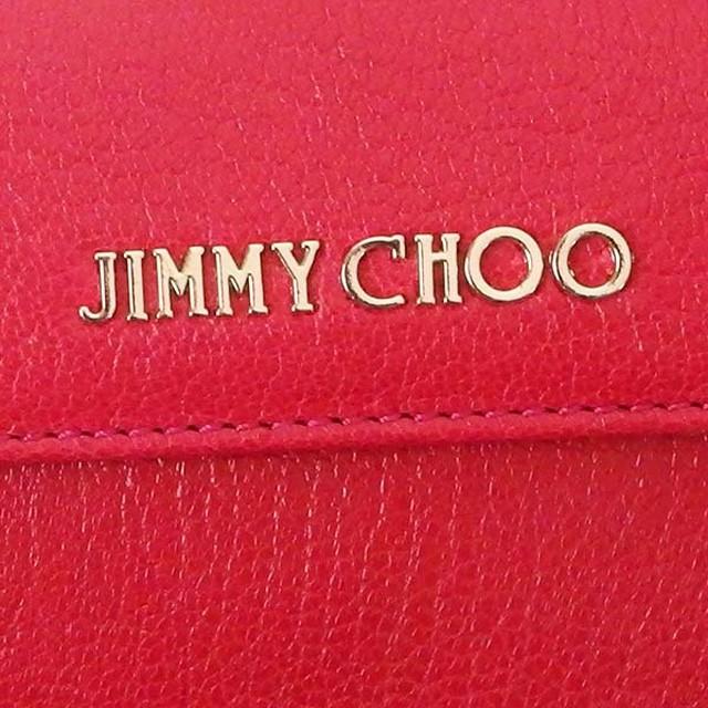 ジミーチュウ 財布 JIMMY CHOO NEMO GRZ 3 ネモ 小銭入れ付き 三つ折り財布 レザー ミニ財布 DAHLIA ダークピンク