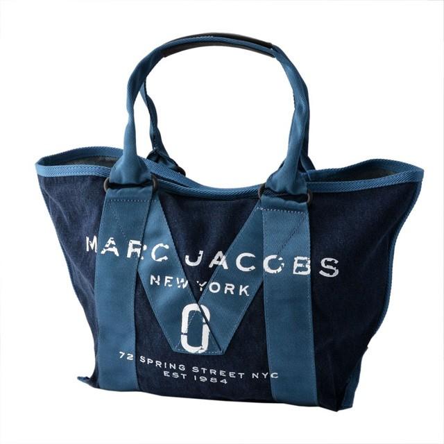 ロゴ トート MARC JACOBS M0011124 423 スモール マークジェイコブス ブルー ニュー レディース トートバッグ トート DENIM