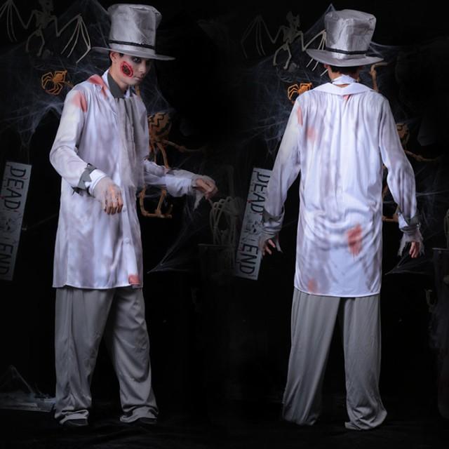 ハロウィン コスプレ メンズ スプラッター 男性用 ゾンビ ホラー コスチューム 衣装 仮装 cos cos-m wsc-170724-296