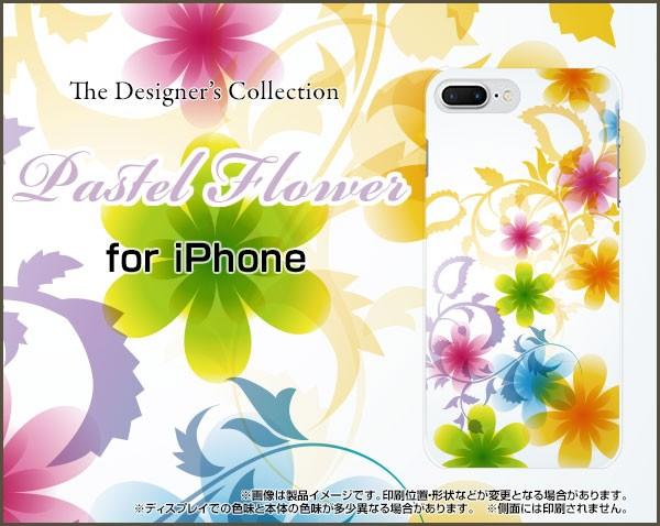 液晶全面保護 3Dガラスフィルム付 カラー:黒 iPhone 8 Plus 7 Plus ハード スマホ カバー ケース Pastel Flower type003 /