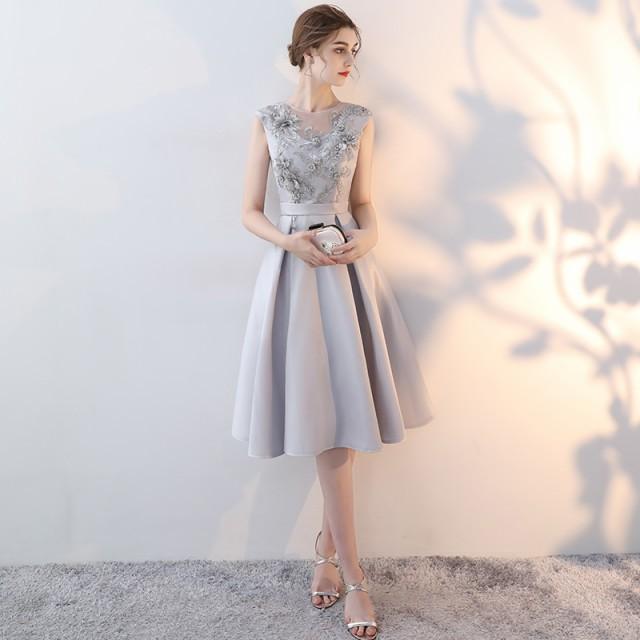 84dcbd5fc86d2 韓国 パーティードレス ノースリーブ ドレス ワンピース 刺繍 レース シースルー フレア 背中見せ 大きいサイズ 3L 結婚