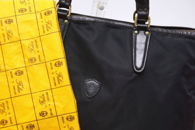 ○フェリージ Felisi 9841/DS リモンタナイロン×バケッタレザー ビジネスバッグ メンズ 中古