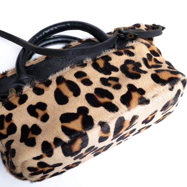 ○ジャスエムビー Jas-M.B. Mini Wings Traveller Leopard ミニ ウィング トラベラー 2WAY ショルダーバッグ ショルダーストラップ 中古