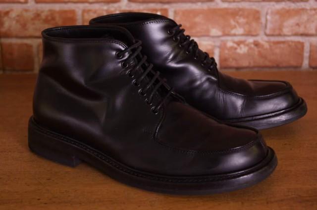 最安値級価格 Silvano ○シルバノマッツァ コードバン メンズ Mazza タンカーブーツ ブーツ-靴・シューズ