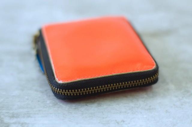 ○コムデギャルソン COMME des GARCONS ラウンドジップ ラウンドファスナー 財布 メンズ 中古