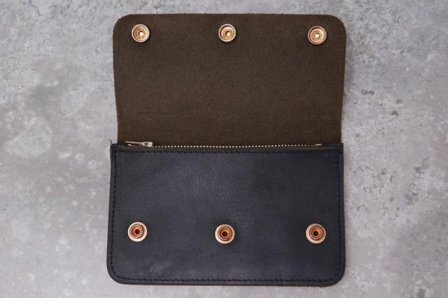 ○アトリエ・デ・アルメ ATELIER DE I'ARMEE オランダ製 シボ革 財布 メンズ 中古