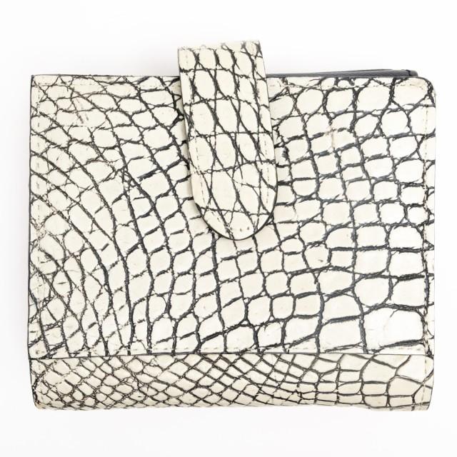 公式の  CROIX レディース ROYAL 財布 ○クロワ・ロワイヤル CRS-038 小銭入れあり 【】 メジロクロコダイル 二つ折り-財布