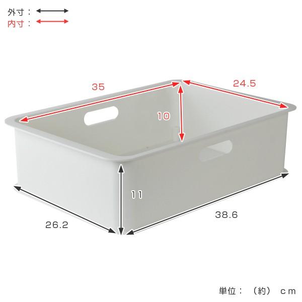 収納ケース カラーボックス用 収納ボックス 浅型 プラスチック製 日本製