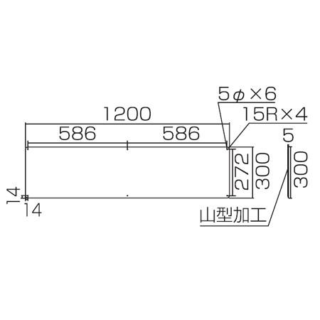 実用標識板 「高さ制限 M」30x120cm スチール製 ( 標示プレート )