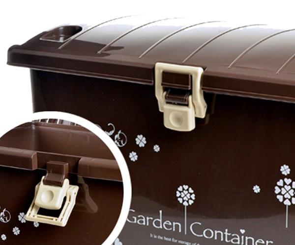 ガーデンコンテナ 収納ボックス 70L ガーデン用品 大容量 ロック機能付き 組み立て