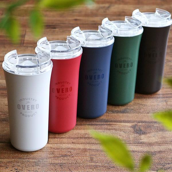 タンブラー 385ml オベロ ふた付き おしゃれ ボトル プラスチック 日本製 ( 食洗機対応 コップ 電子レンジ対応 マグ こぼれない 蓋 付き