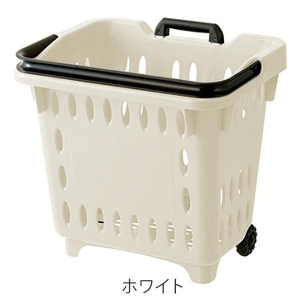 キャリングバスケット ハンドルロック式 キャリーカート ショッピングカート 買い物カゴ