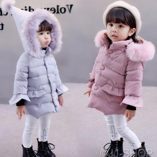 5b1a43e5955fb 韓国子供服 ダウンコート 中綿コート 子ども服 女の子 無地 フード付き 秋冬 ジャケット キッズ