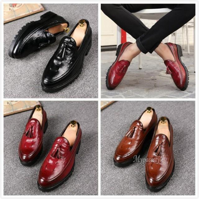 1c7ceb683c2e メンズビジネスシューズ スリッポン クロコダイルワニ柄 ローファーシューズ ドライビングシューズ 革靴 学生靴 紳士靴