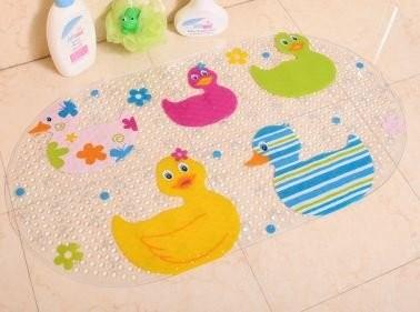お風呂マット 楕円形 カラフル ダック 浴室用 滑り止め付き