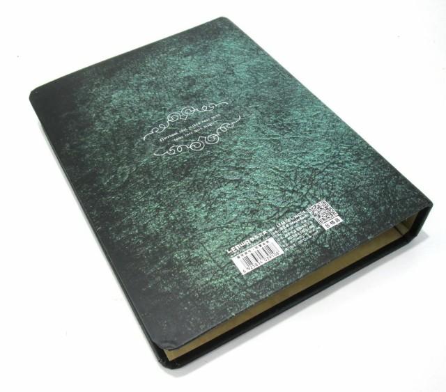 ノート ルーズリーフ 古い洋書風 ミステリアスカラー A5サイズ (グリーン)