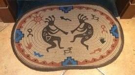 玄関マット インディアン風 楕円形