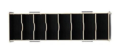 名刺立て 収納ケース 木目風 組み立て式 大容量 (ブラック)