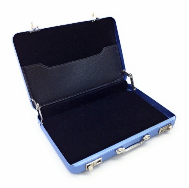 名刺入れ アタッシュケース型 アルミ製 (ブルー)