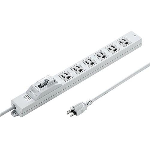 サンワサプライ [TAP-BR36L-1] 漏電ブレーカータップ(オフィス・工場用・3P・6個口・1m)