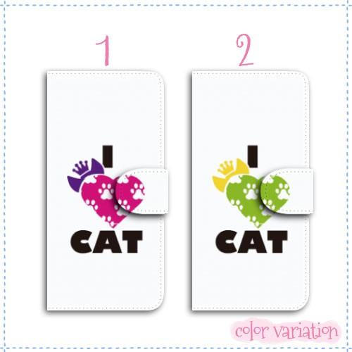 iPhone 5s 手帳型 スマホケース iPhone 5s ケース 分厚い白革 おしゃれ/猫 足跡  アイフォン 5s