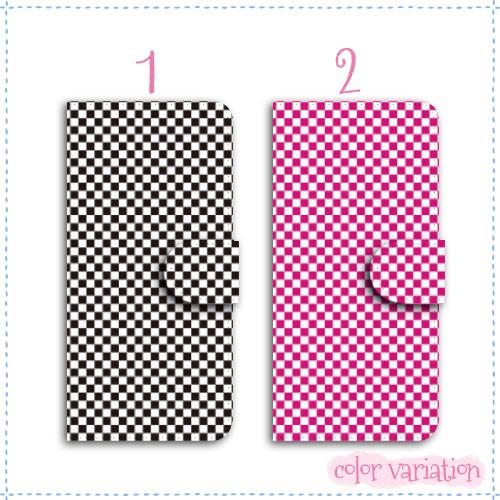 iPhone 6s Plus 手帳型 スマホケース iPhone 6s Plus ケース 分厚い白革 チェック柄  アイフォン 6s プラス