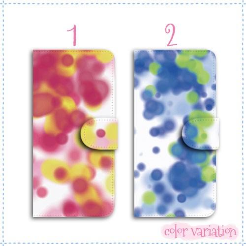 AQUOS PHONE es 手帳型 スマホケース WX04SH ケース 分厚い白革 水彩柄01