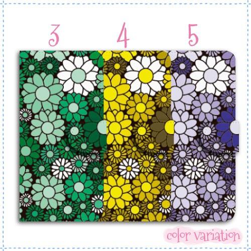 AQUOS R 手帳型 スマホケース 604SH ケース 分厚い白革 花柄パターン08