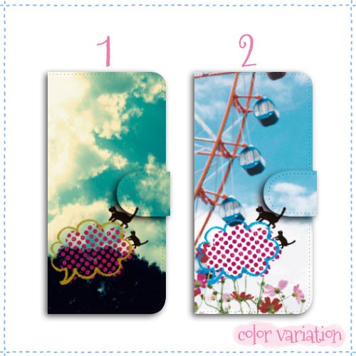 AQUOS PHONE SERIE mini 手帳型 スマホケース SHL24 ケース イラスト/お散歩ねこ  アクオスフォン セリエ ミニ