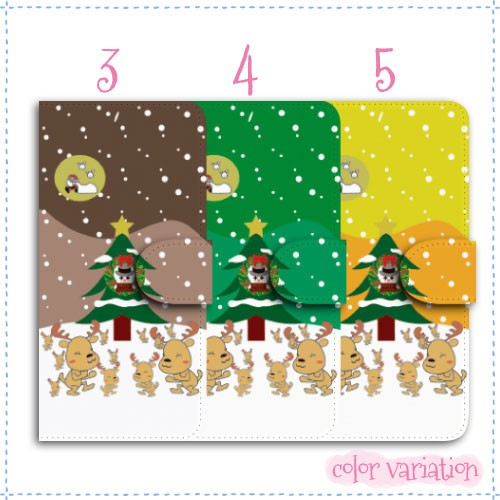 DIGNO E 手帳型 スマホケース 503KC ケース キャメル クリスマス  手帳ケース