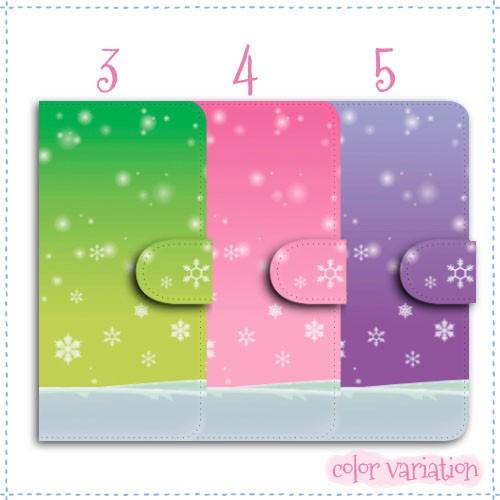 Android One S1 手帳型 スマホケース S1 ケース 分厚い白革 雪空
